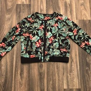 7th Avenue Floral Bomber Jacket